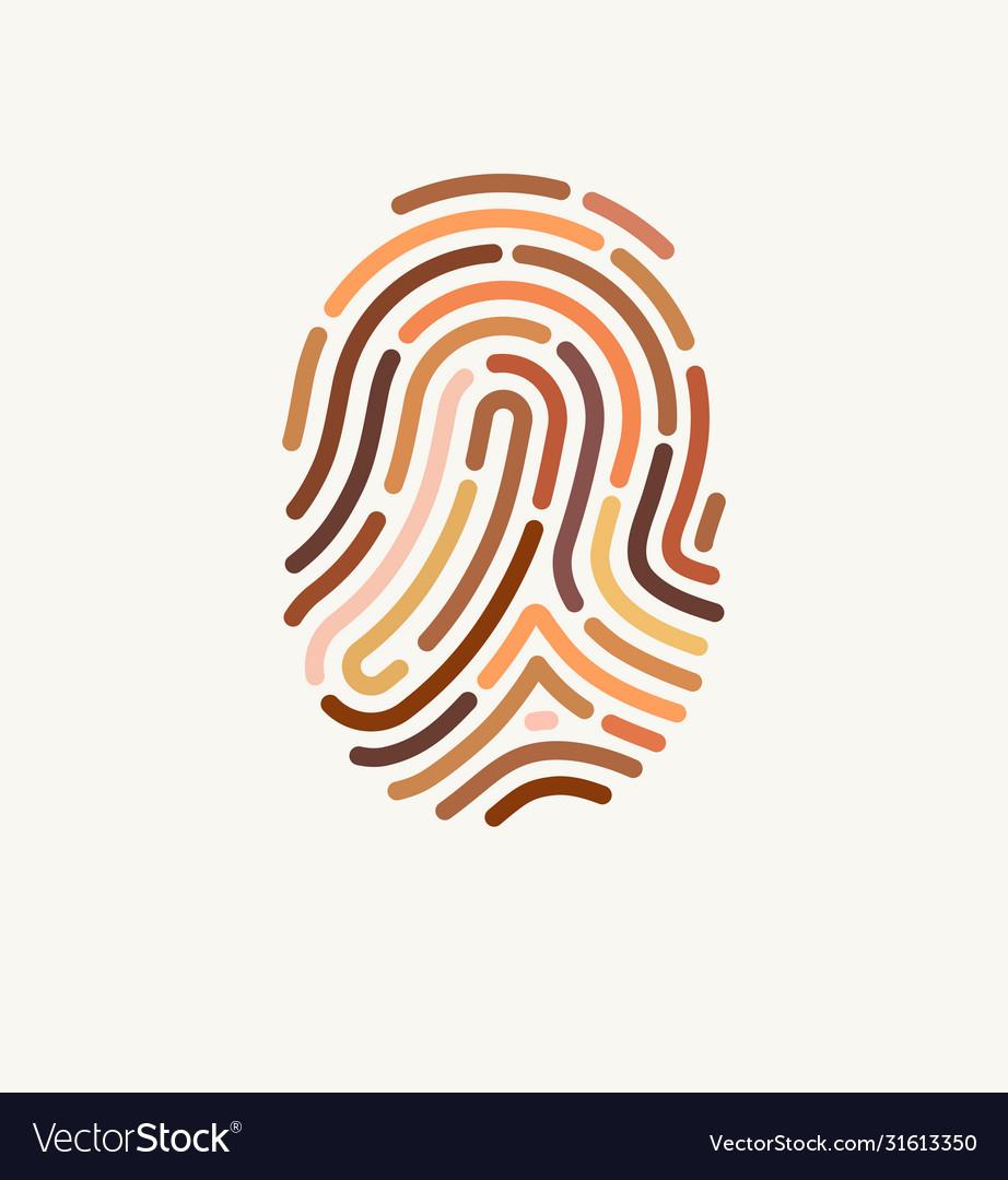 Fingerprint many different skin tones
