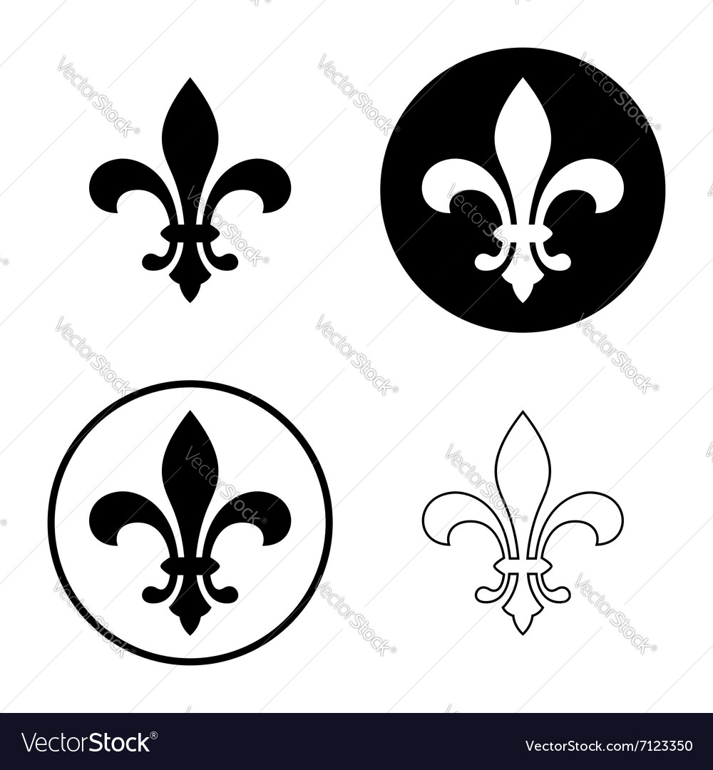 fleur de lis icon set royalty free vector image