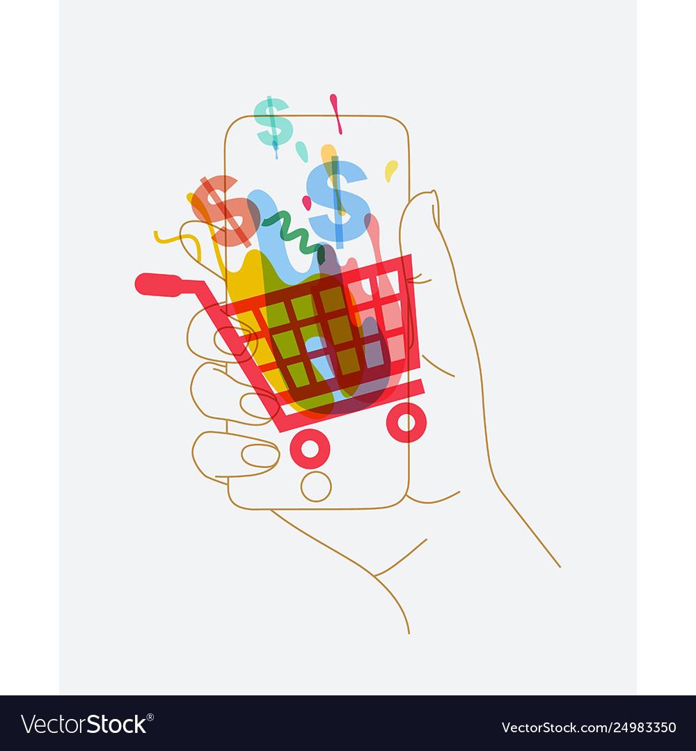 Hand phone online shopping