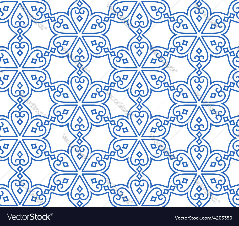 Indian seamless abstract pattern of traditional