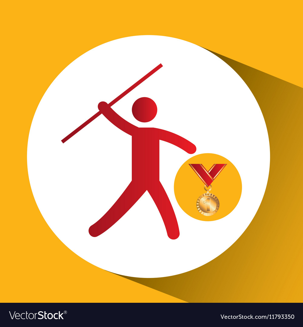 Olympic gold medal javelin throw icon