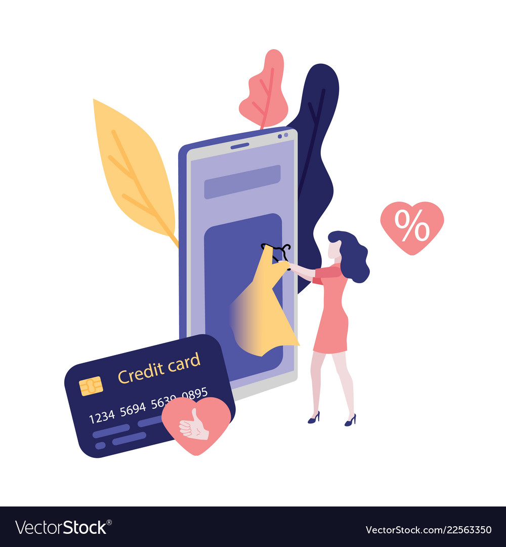 Online shopping and payment with credit card
