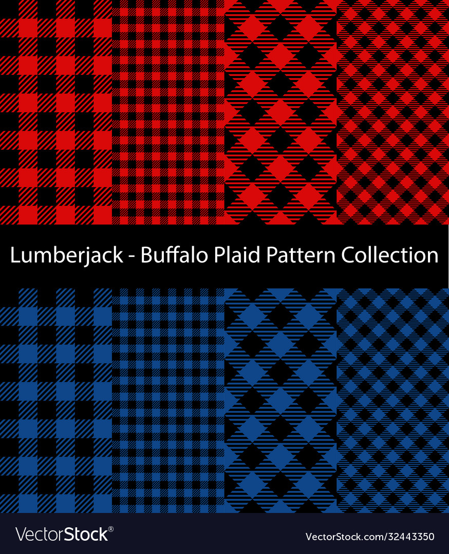 Red and blue lumberjack collection