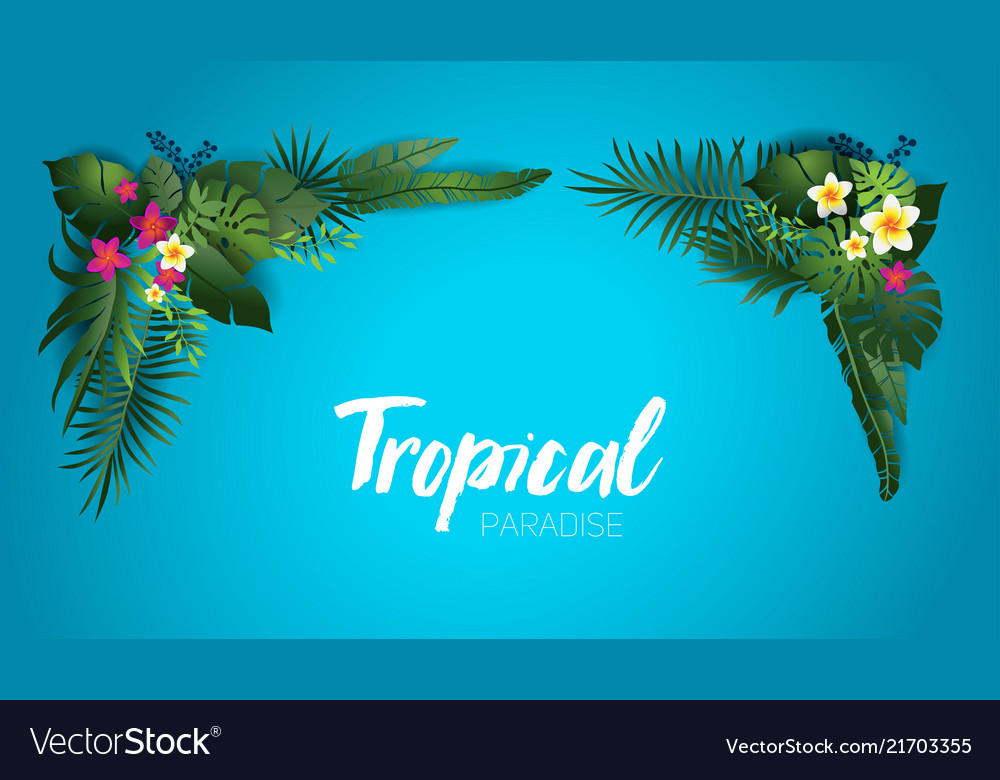 Blue tropical frame
