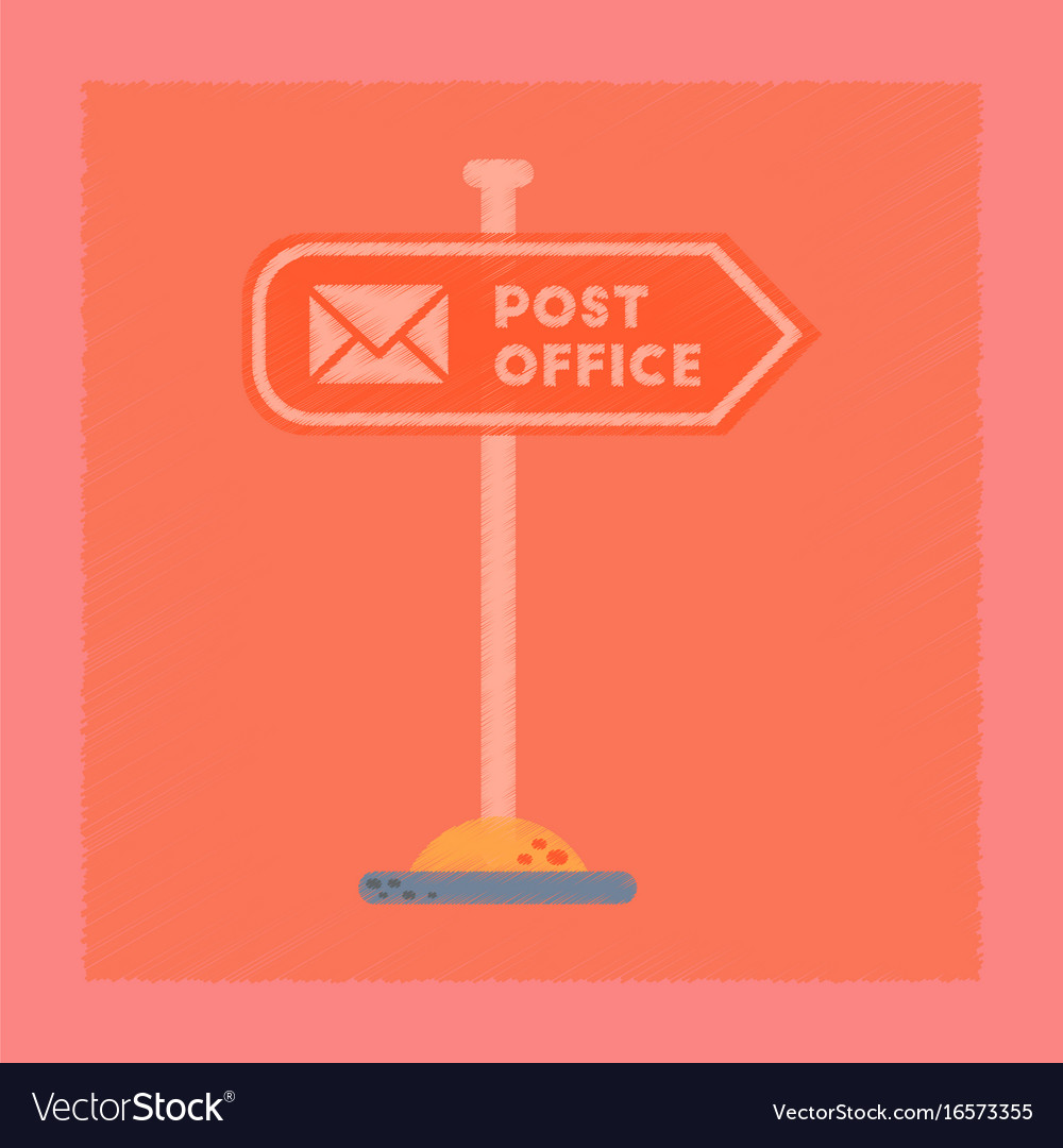 Flat shading style icon sign post office