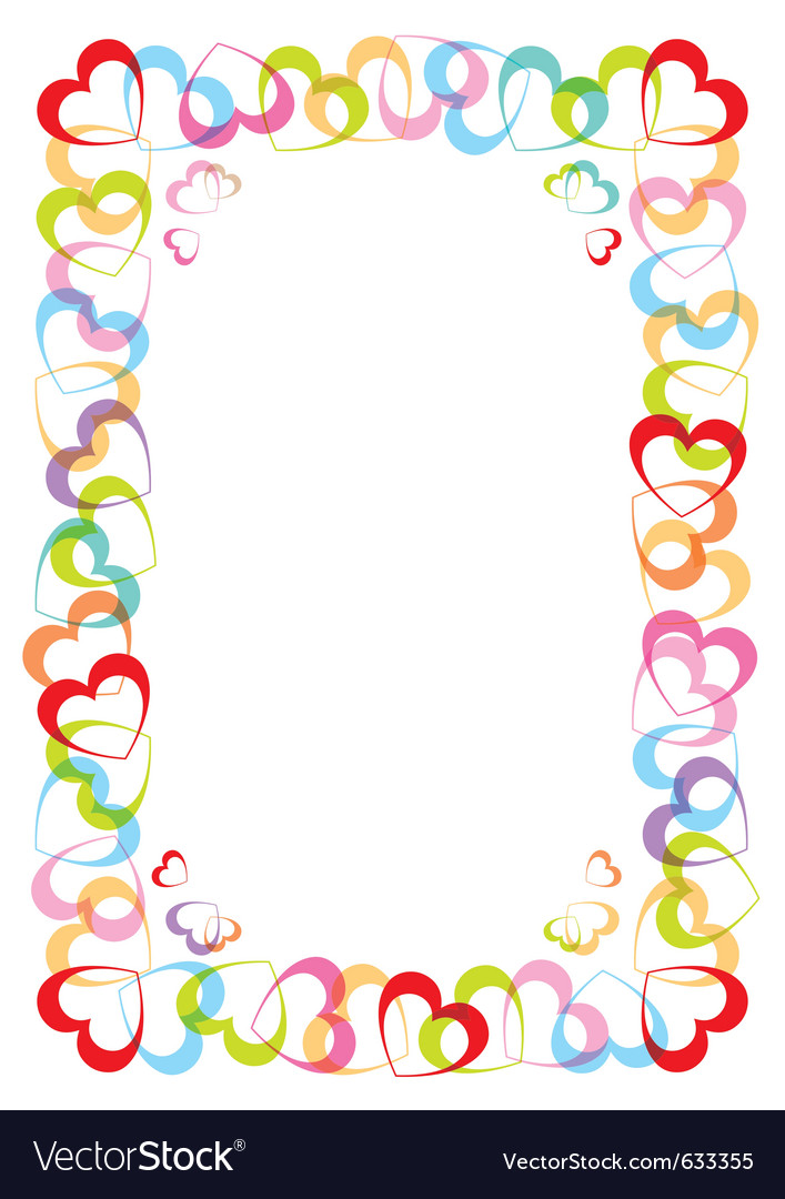 Frame with heart for valentines day Royalty Free Vector