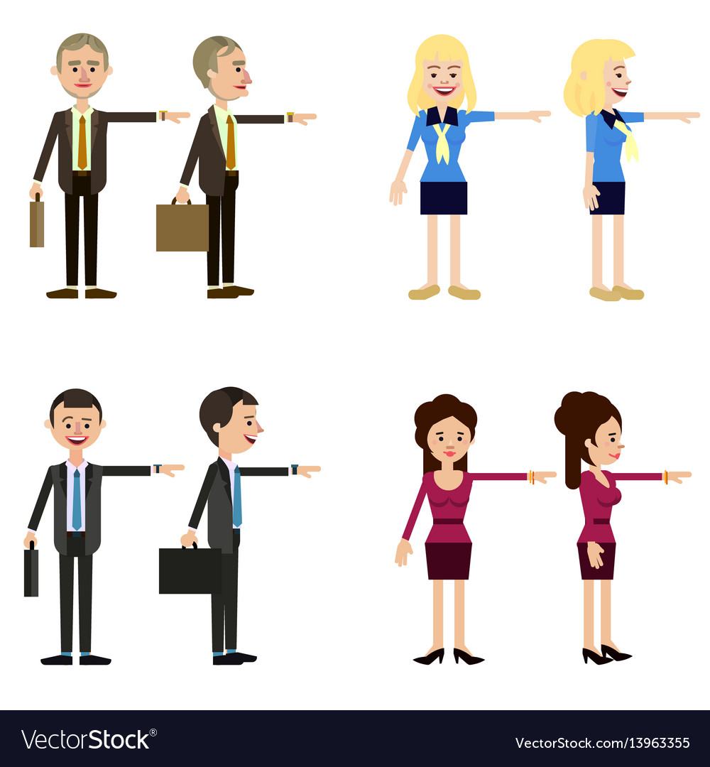 Funny business characters of men and women
