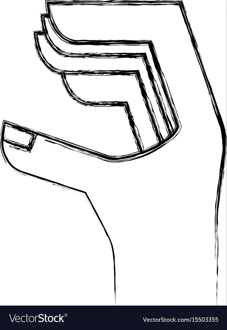 Hand human language icon