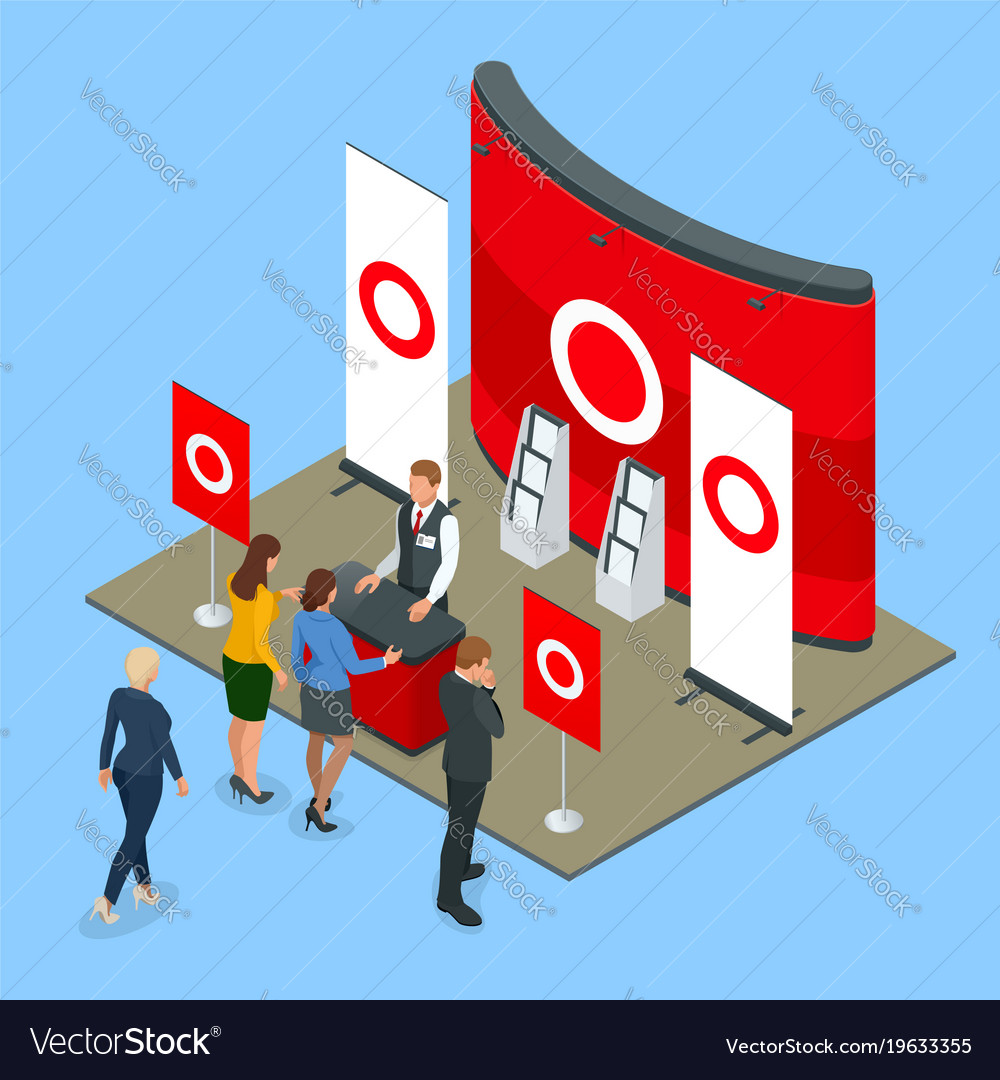 Isometric promotional stands or exhibition stands