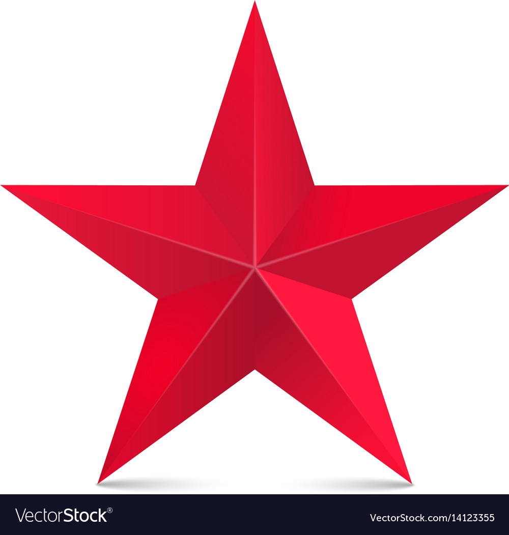 red star 3d isolated on white royalty free vector image rh vectorstock com star vector images free download star vector images free download