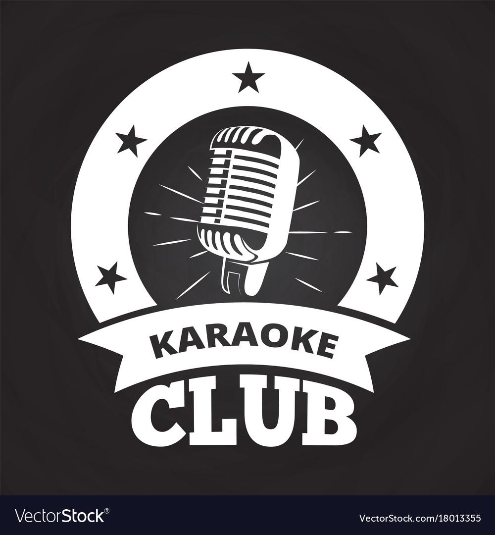 Retro karaoke club label