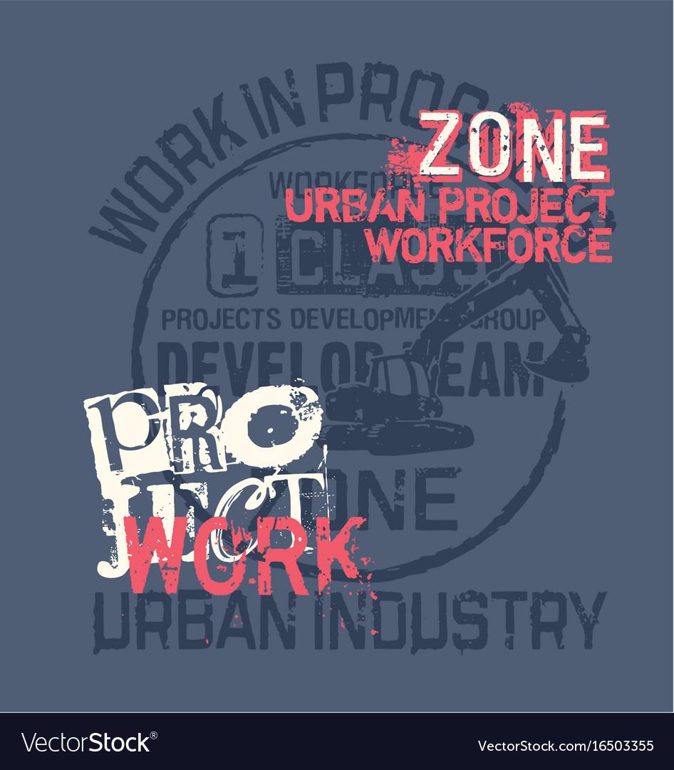 Urban project work force excavator