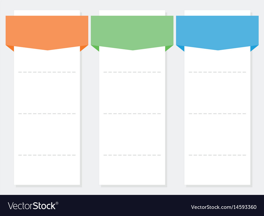3 options infographics set template vector image