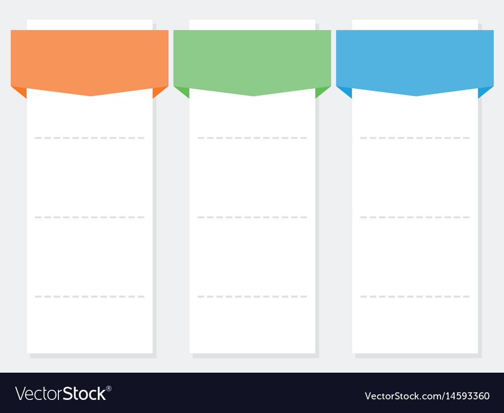 3 options infographics set template