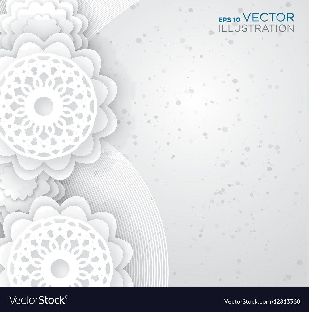 Abstract White Flowers Background Royalty Free Vector Image
