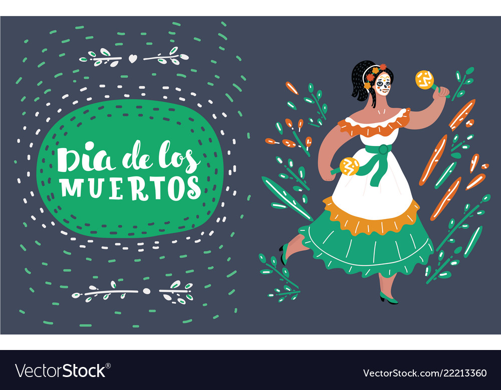 Dancing woman card