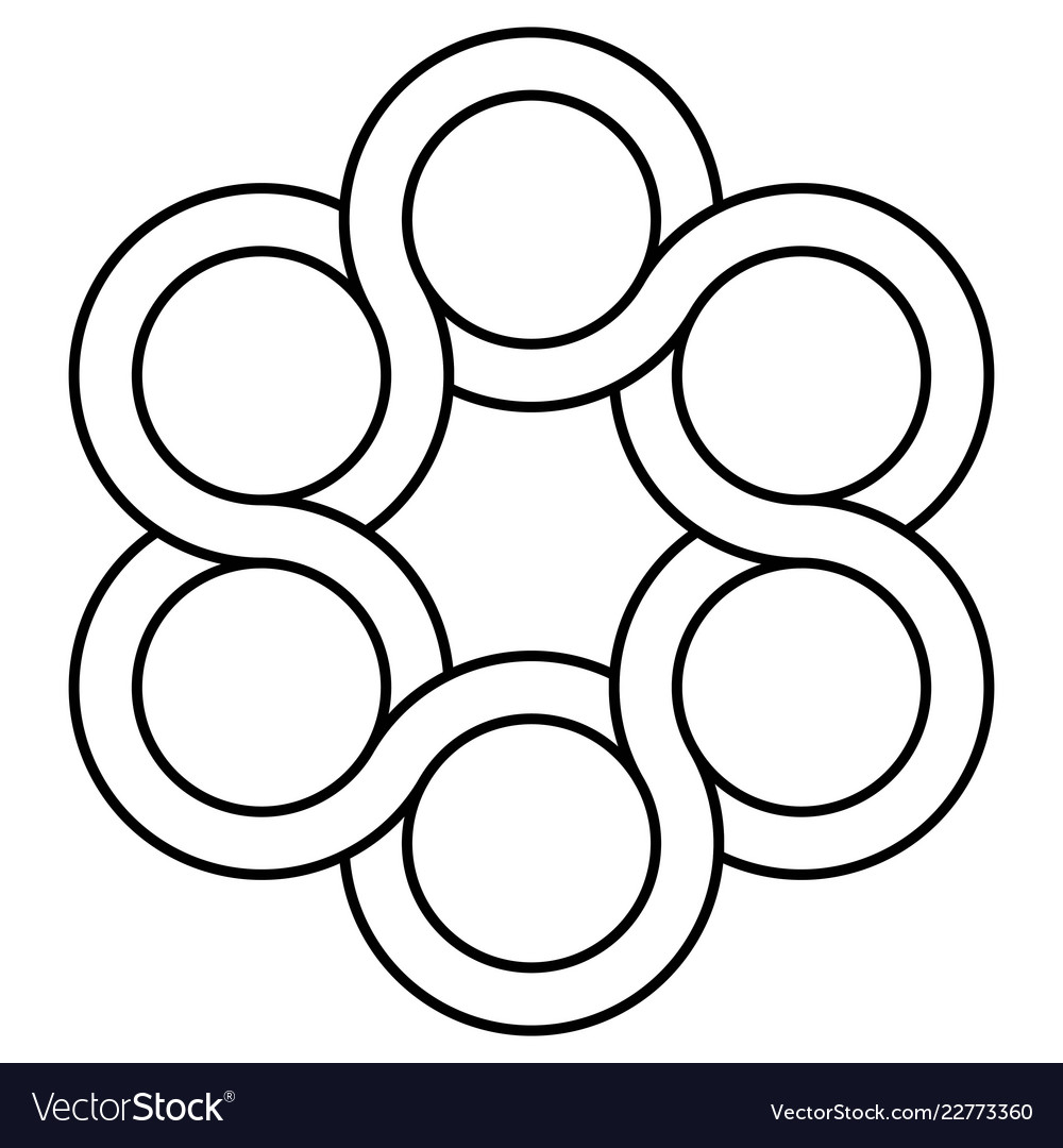 Icon valve logo interlacing circles symbol tap