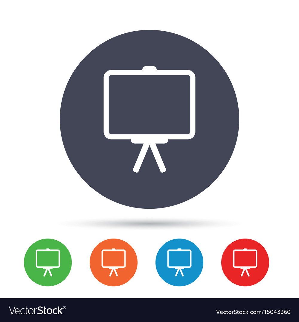 presentation billboard sign icon ppt symbol vector image