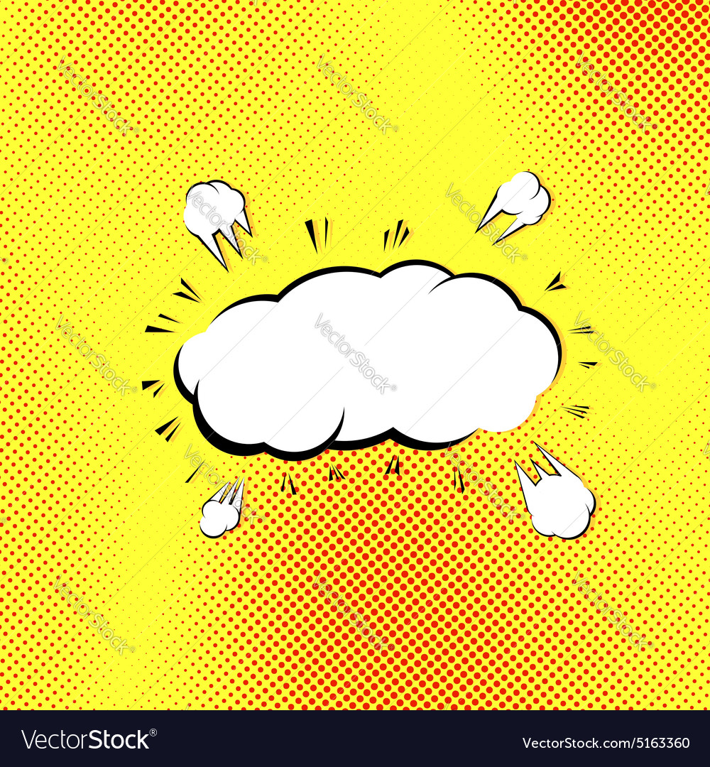 Retro style pop-art explosion steam cloud