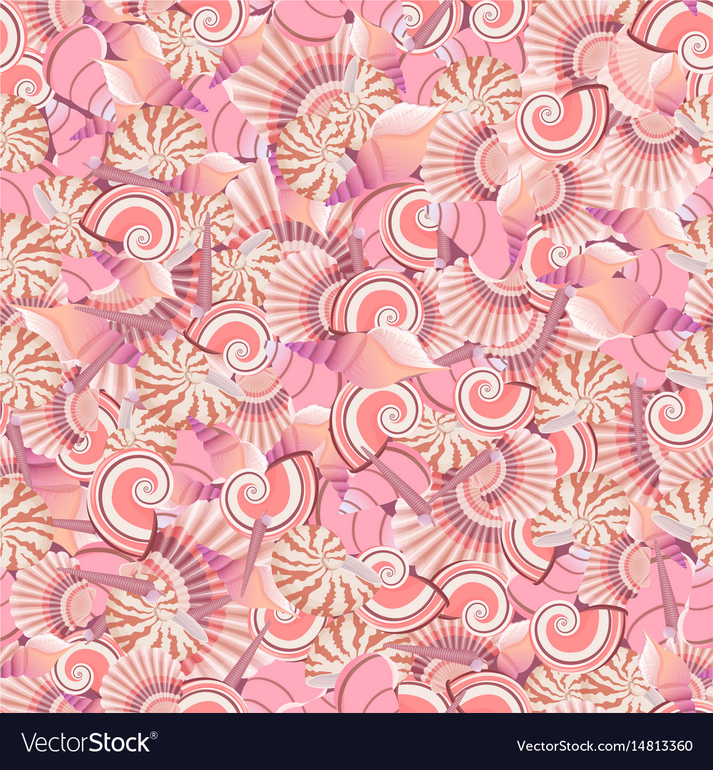 Seamless seashells pattern perfect for