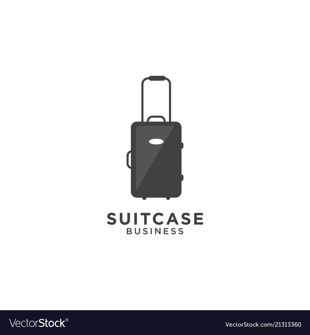 Suitcase graphic design template
