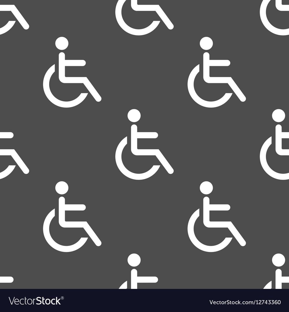 Wheelchair seamless pattern vector image