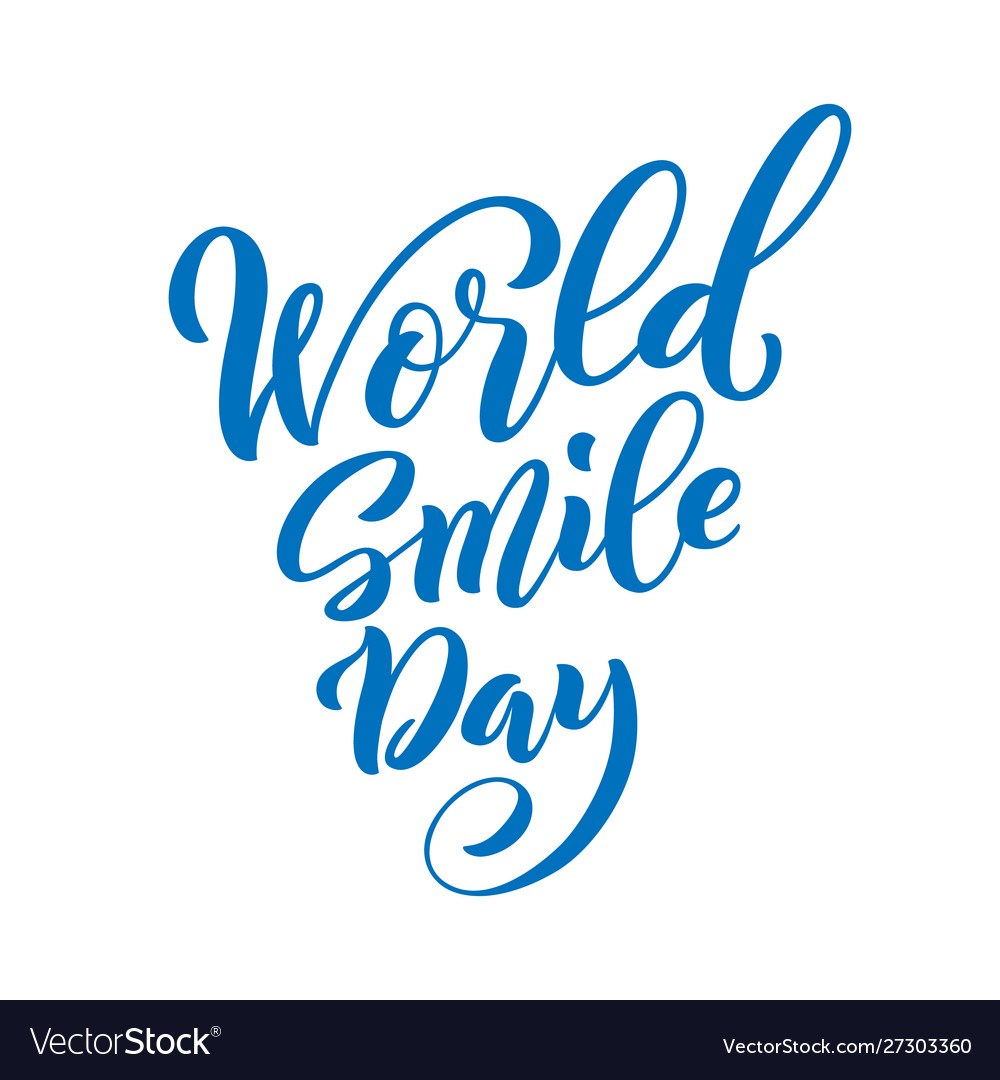 World smile day template for poster with hand