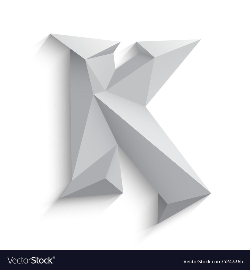 Origami Paper Font Folded Ribbon Font Rendering Letter — Stock ...   1080x1000