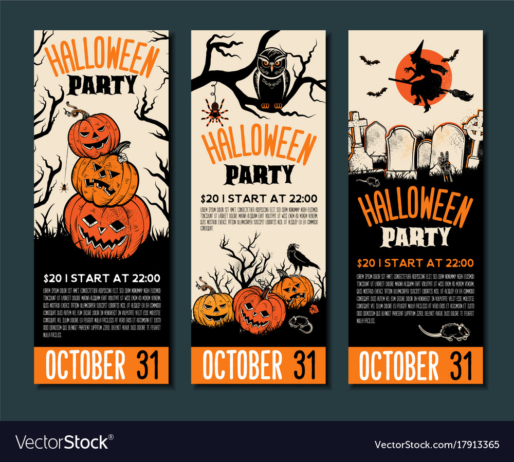 Halloween tickets template place for your text