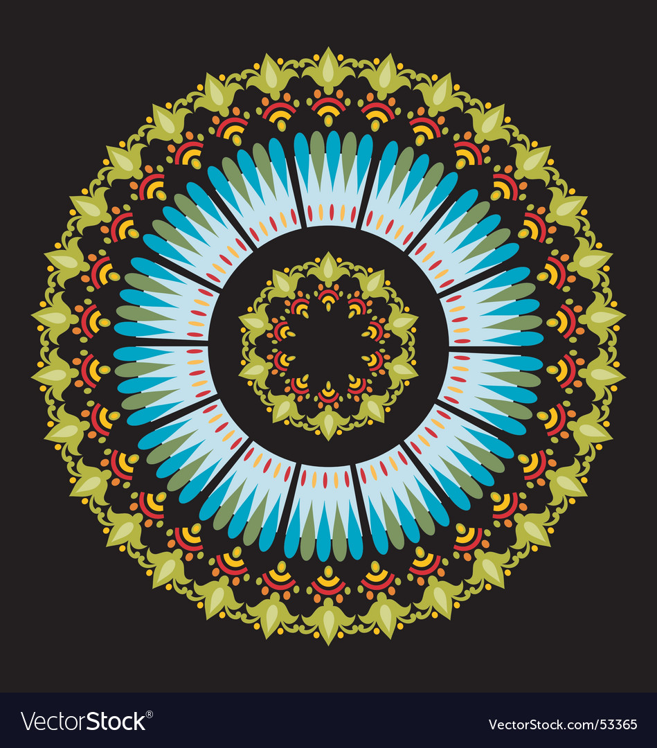Summer mandala vector image