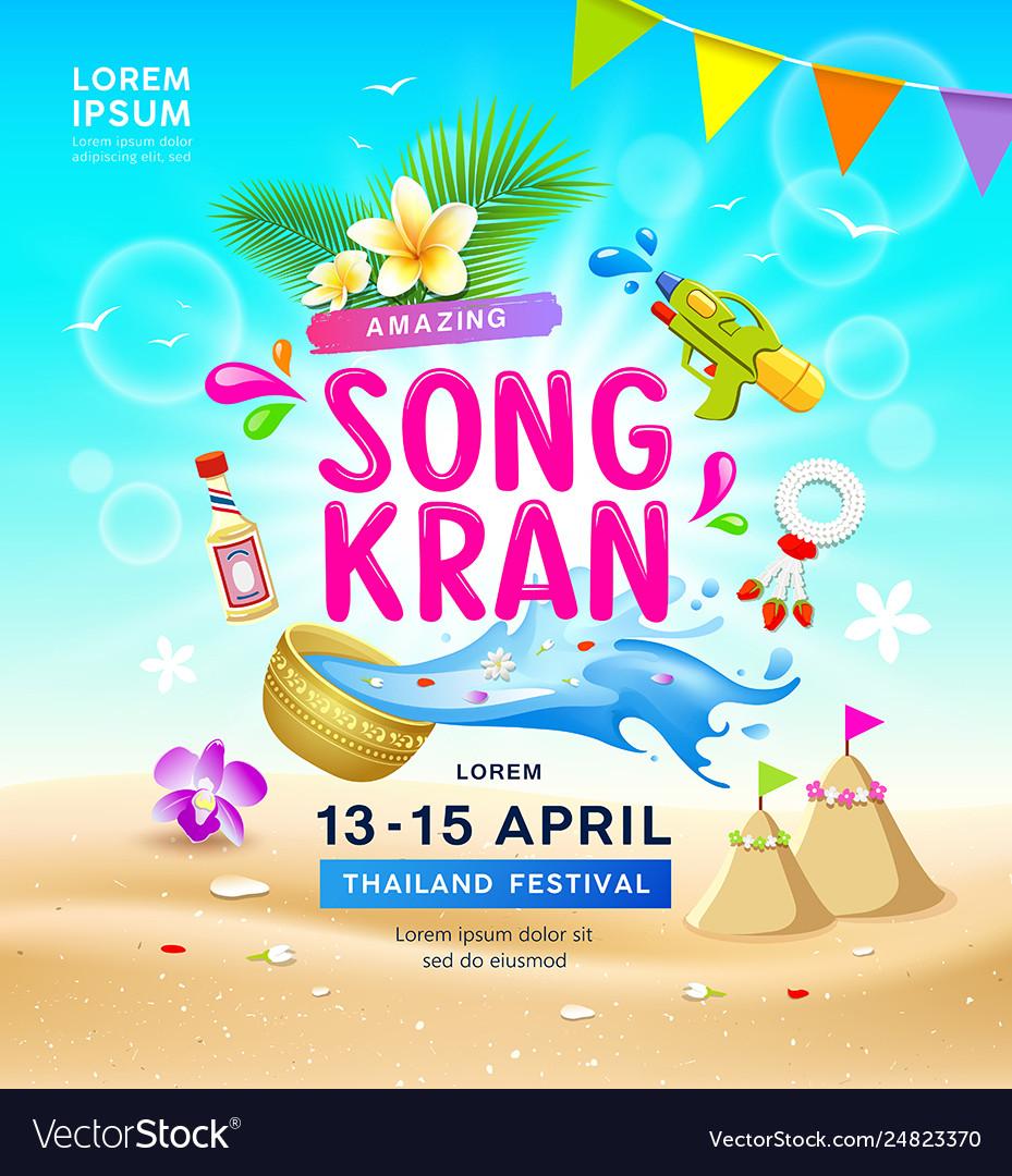 Amazing songkran travel thailand festival summer