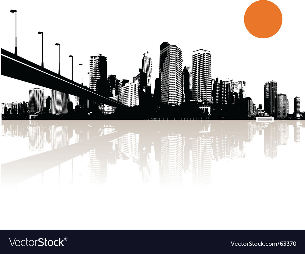 cityscape royalty free vector image vectorstock rh vectorstock com Cityscape Illustration Cityscape Logo
