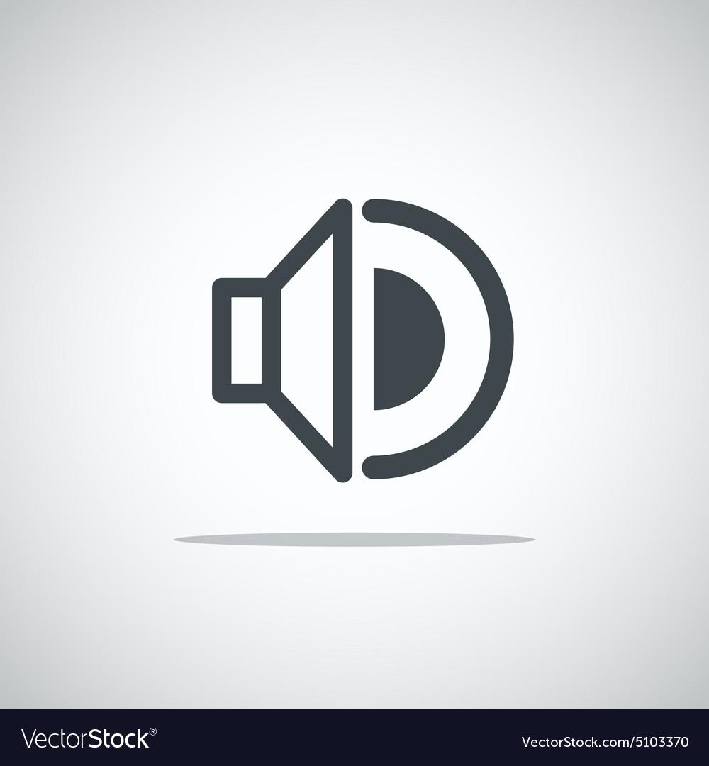 Modern media web icon vector image