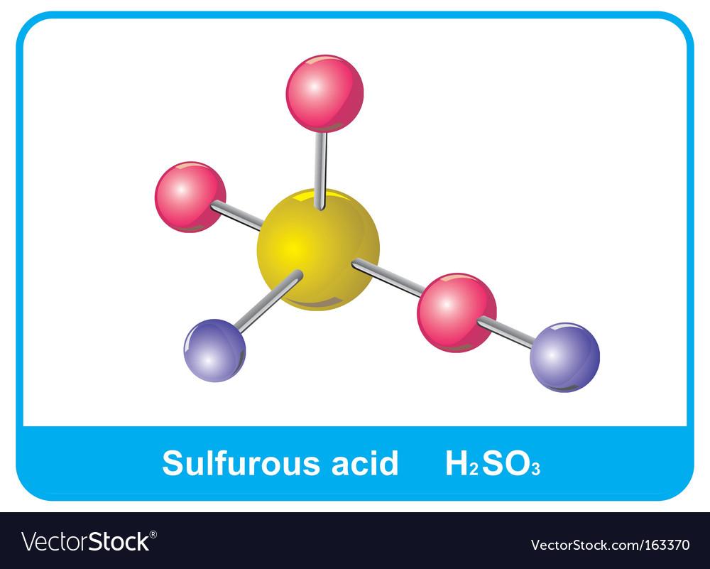 Molecule Of Sulphuric Acid Royalty Free Vector Image