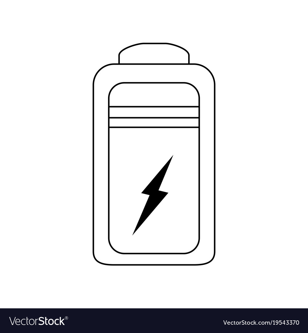 Rechargeable battery symbol Royalty Free Vector Image
