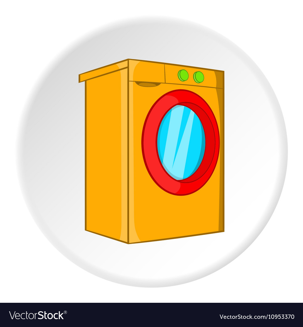Washer icon cartoon style