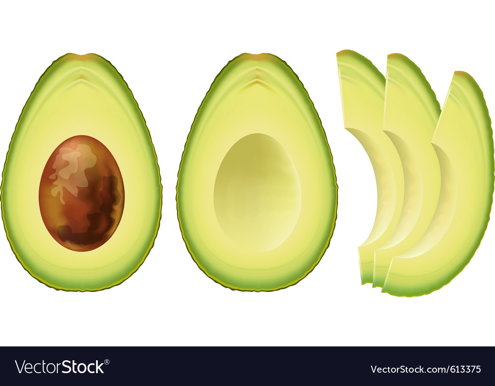Avocado half of the fruit and cut into slices