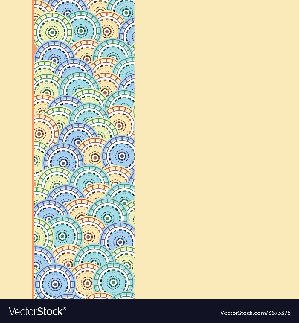 Background with Oriental Part Abstract vector image