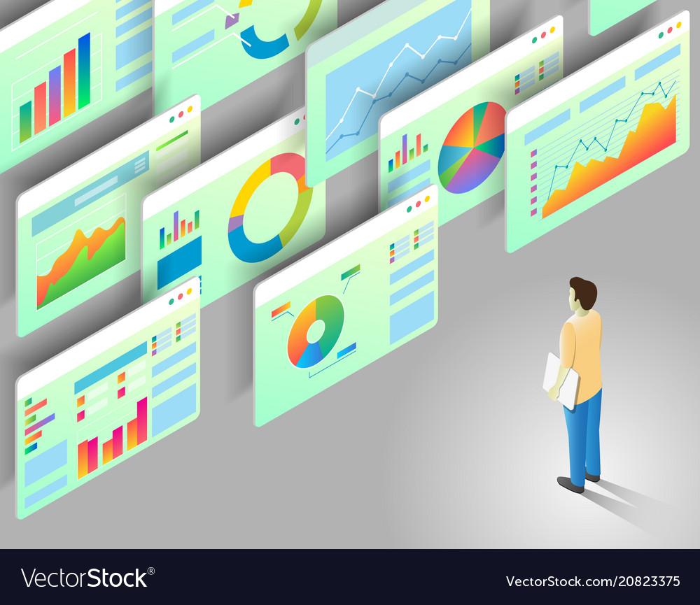 Data analytics isometric