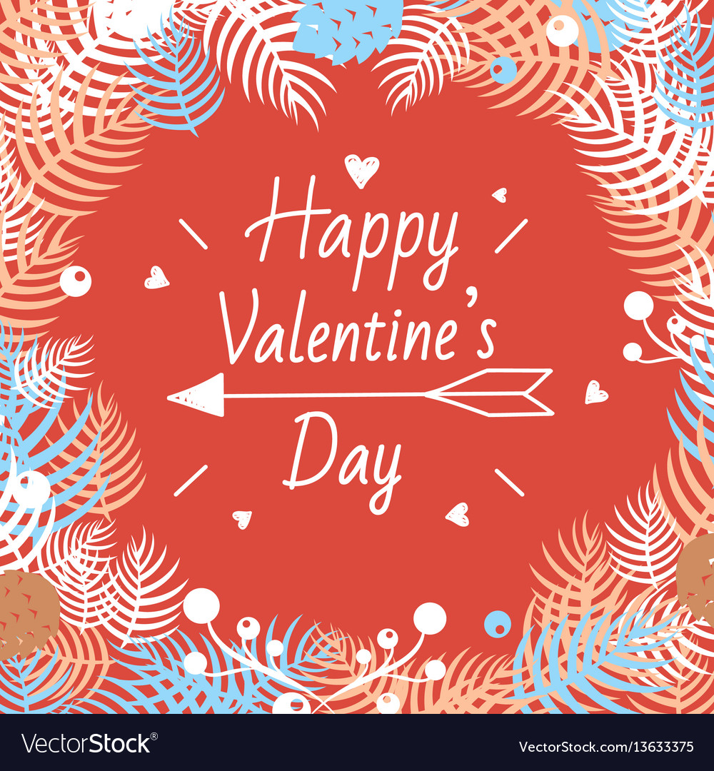 Happy valentines day design elements