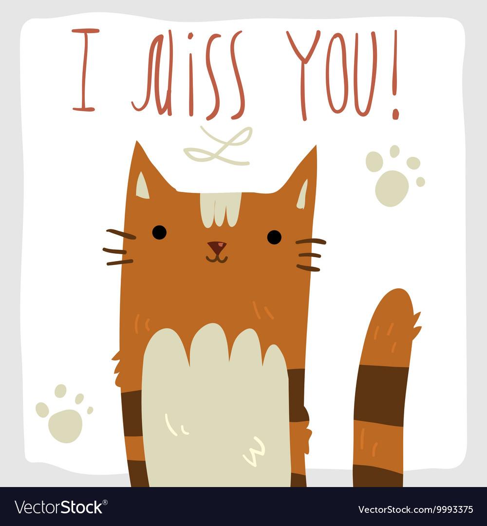 Postcard Missing you