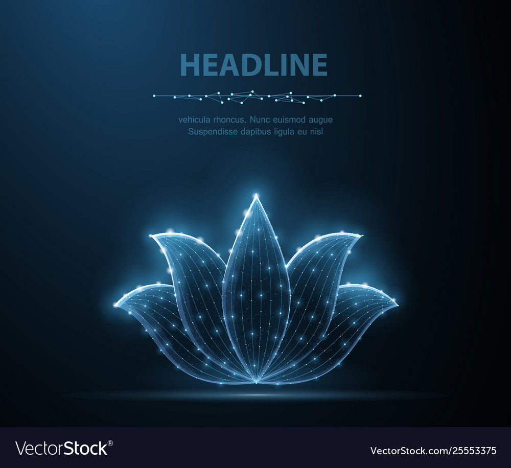 Lotus abstract flower icon isolated