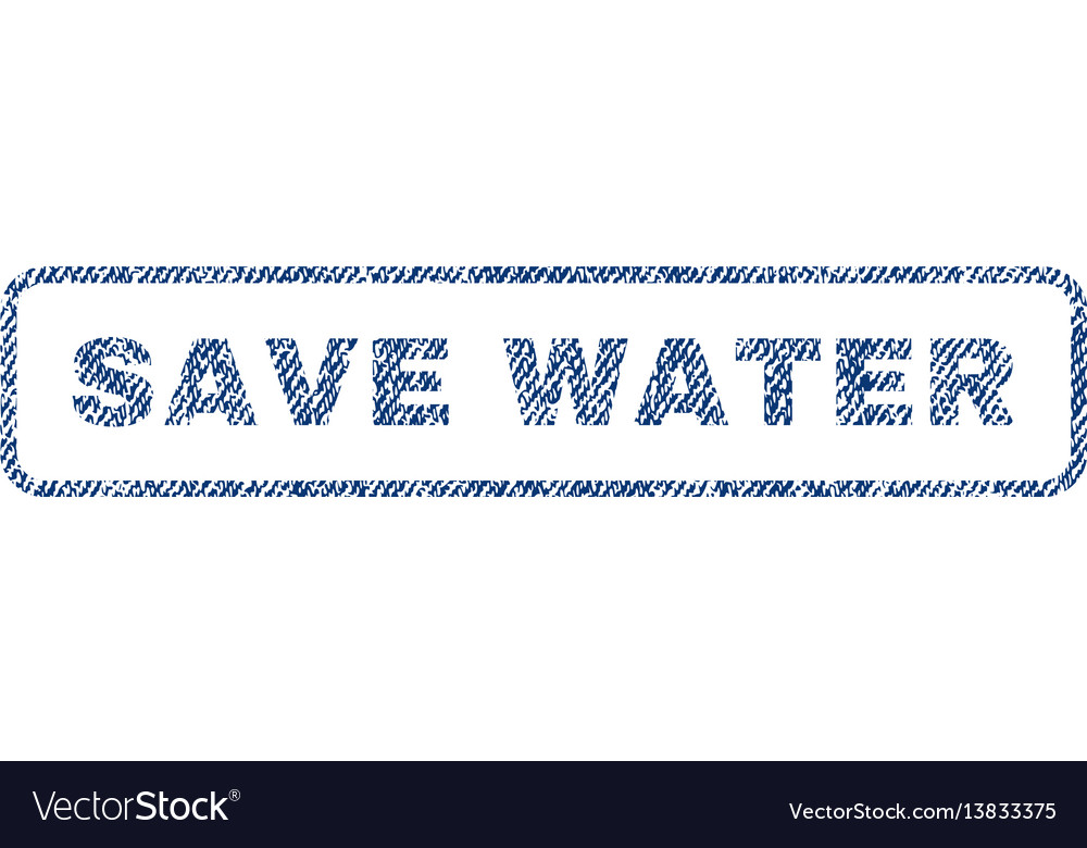 Save water textile stamp vector image