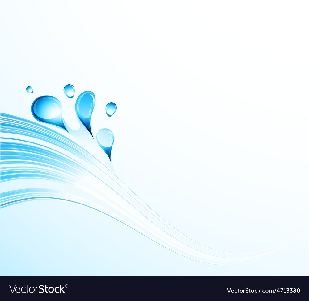 Abstract water wave with bubbles