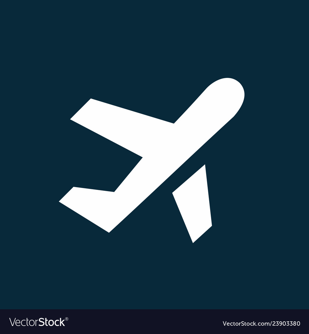 Airplane taking off simple icon airport symbol