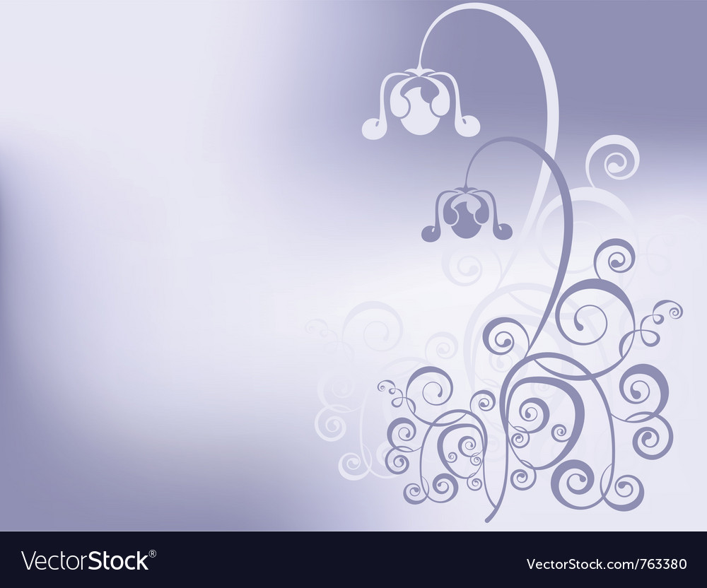 Background whith purple flower vector image