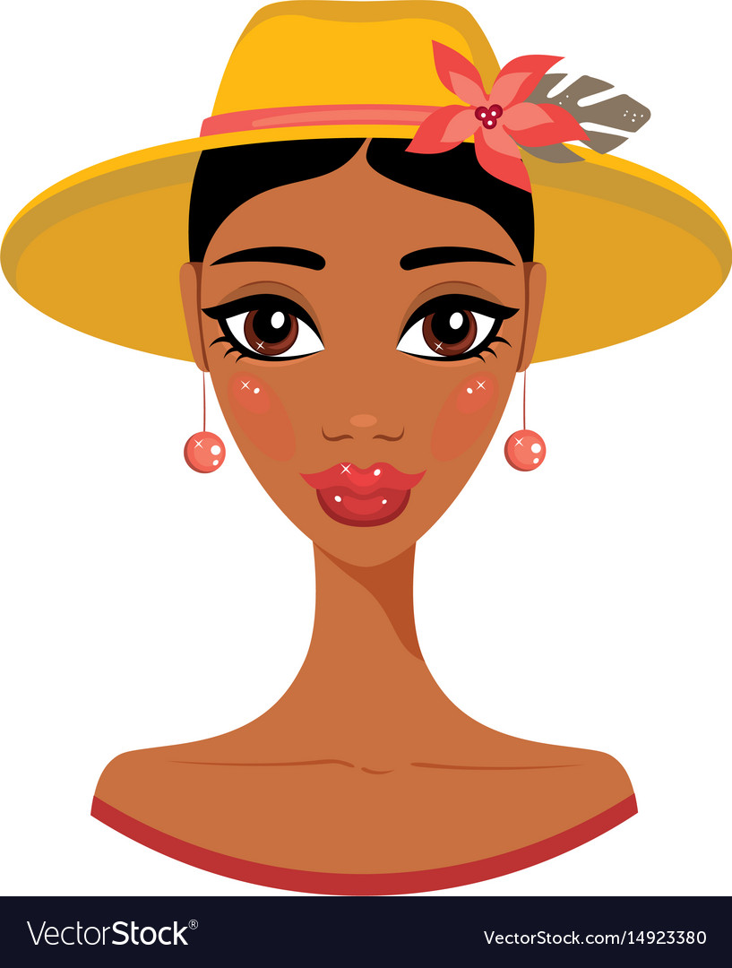 Beautiful african american young woman in stylish