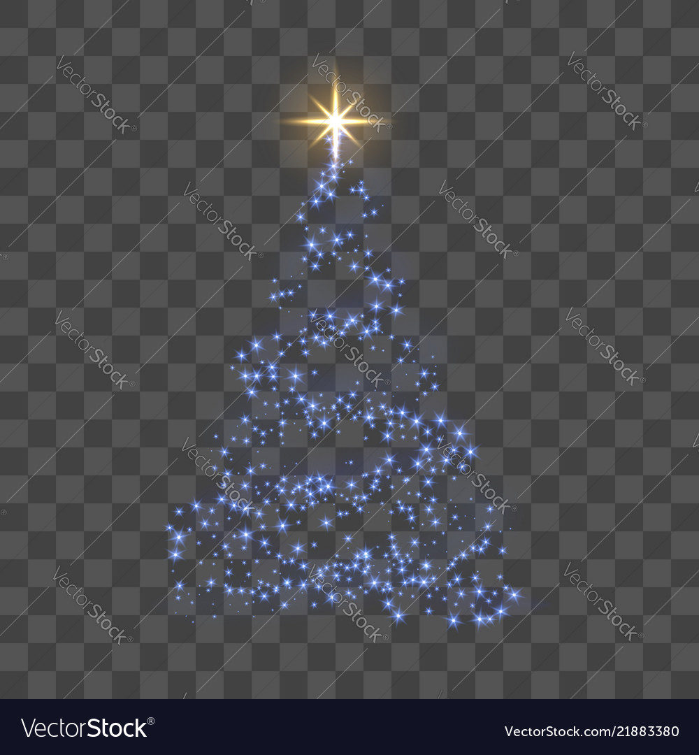 Christmas tree 3d for card transparent background