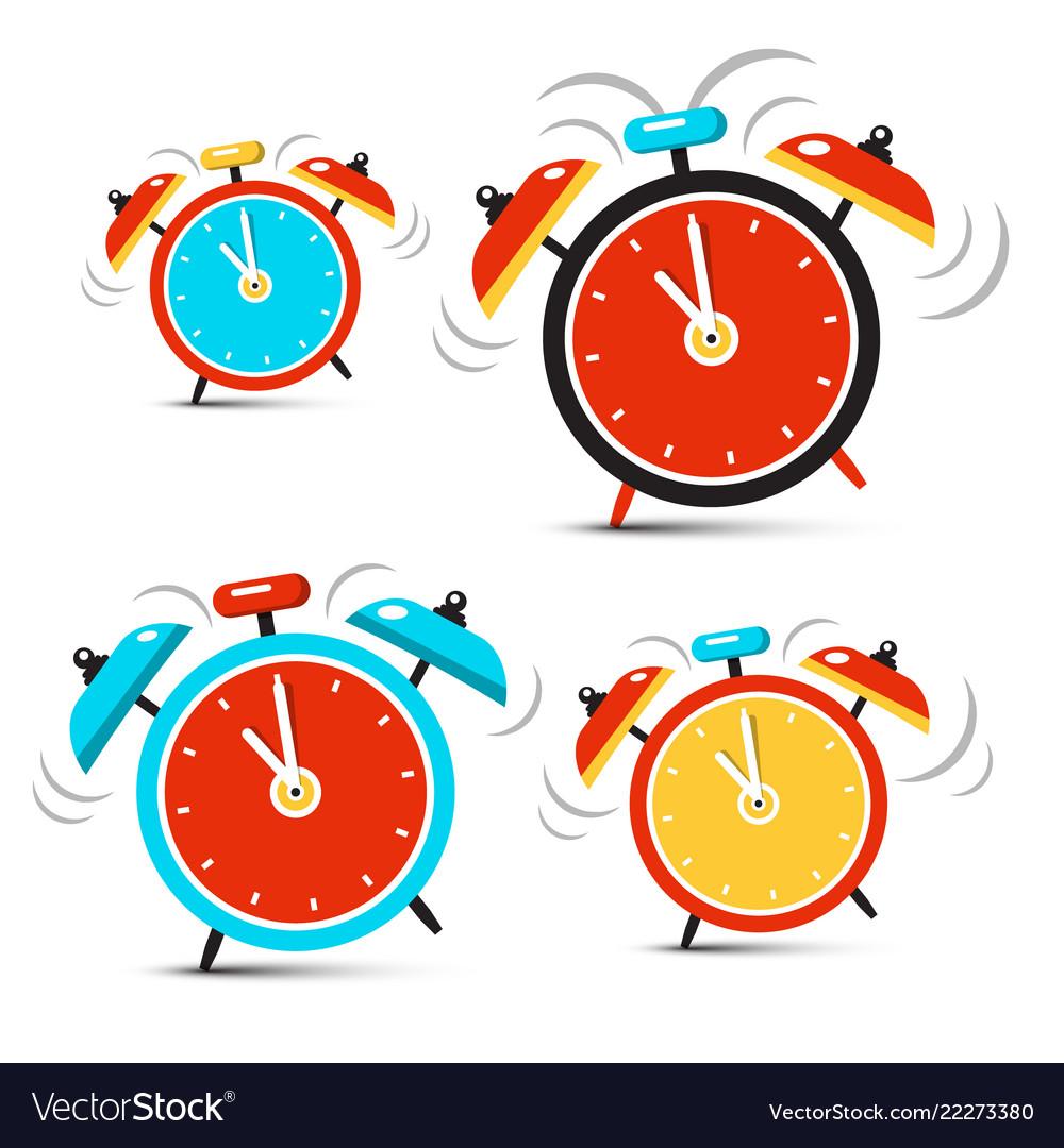 Clock - time symbol ringing alarm clocks set