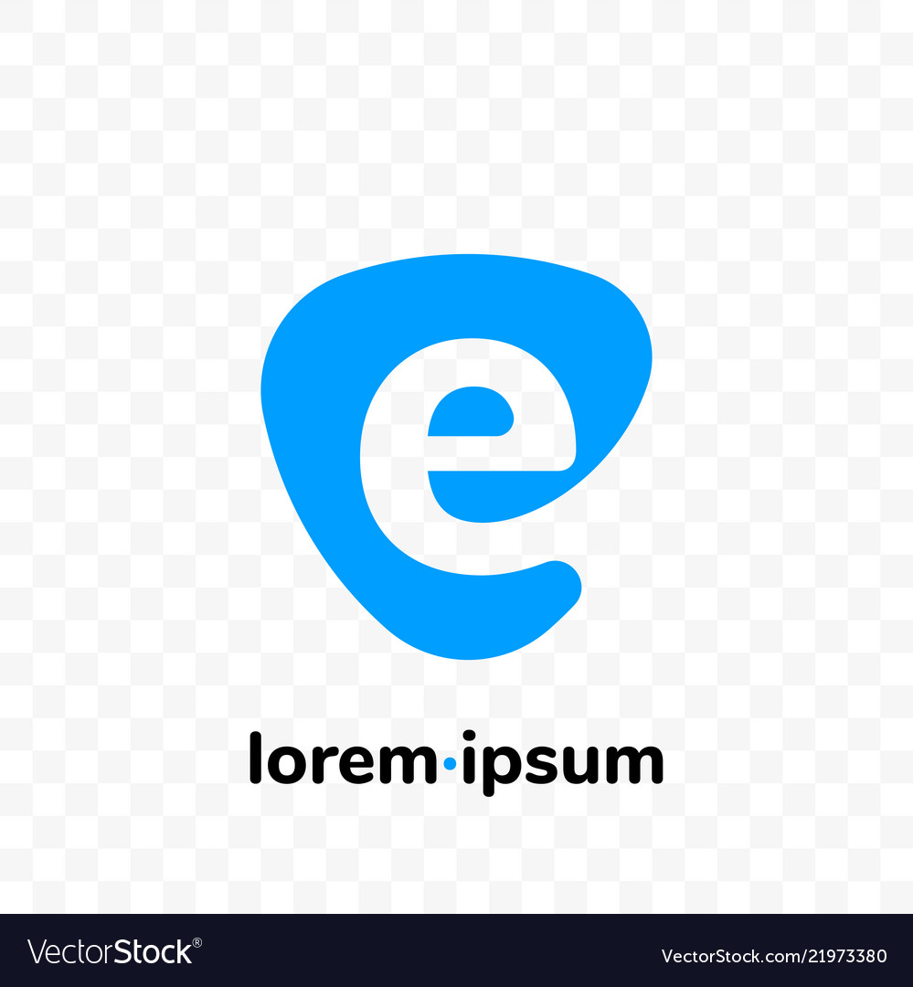 E digital e-mail at sign letter icon